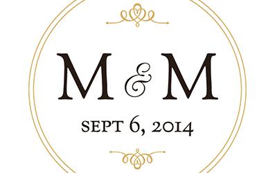 Michael Mary Wedding Logo and Stationery Cecilia De Jesus Design