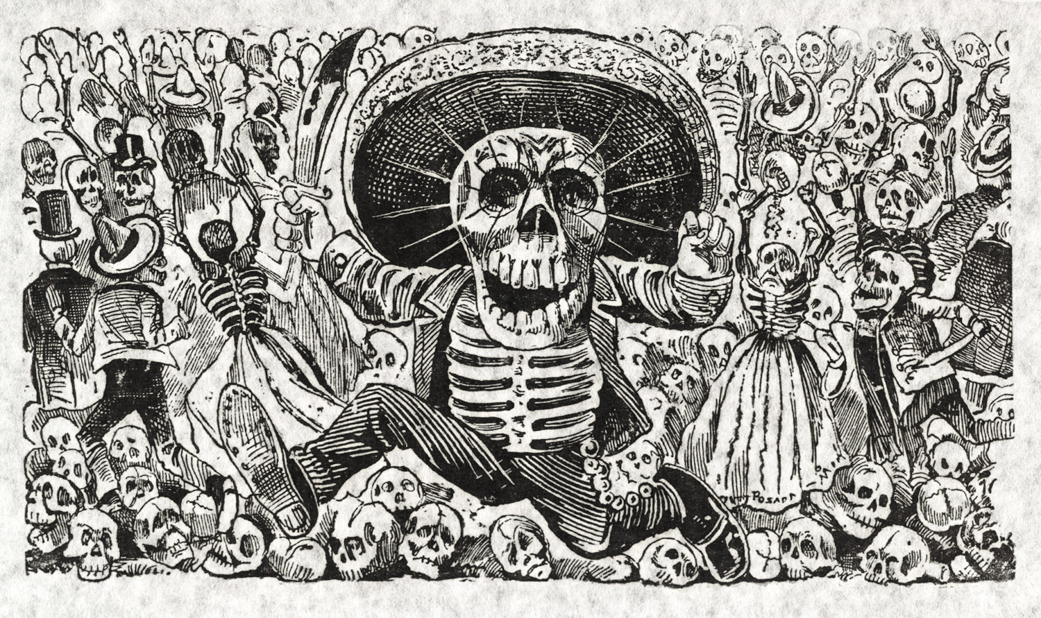 Jos guadalupe posada skulls skeletons and macabre mischief of indigenous symbols and motifs today humorous political cartoons and satirical comic strips are incredibly popular in mexico and for many biocorpaavc Images